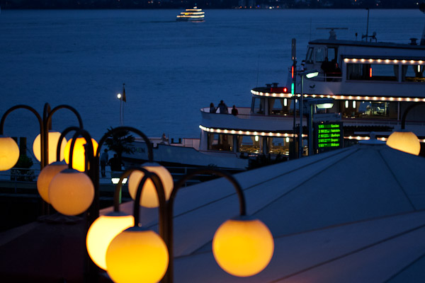 Schiff im Meersburger Hafen